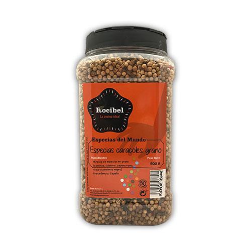 Especias caracoles grano de Murcia Rocibel